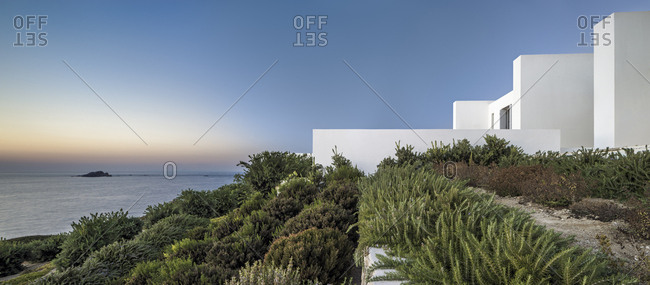 Exterior view, The Edge summer house on Paros island, Greece