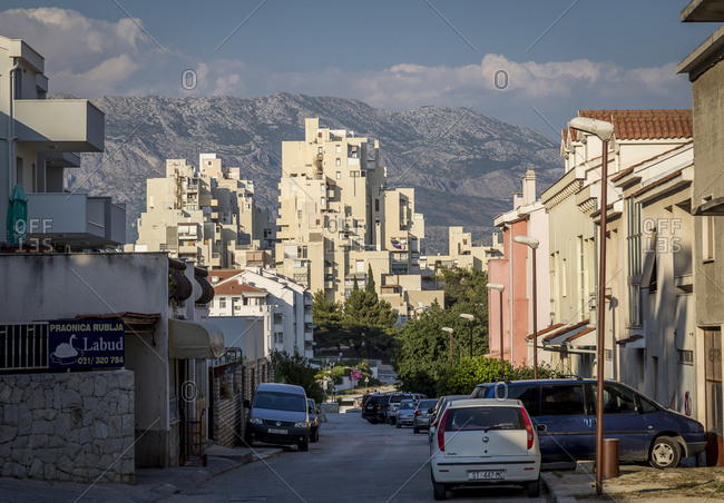 Split, Croatia - June 22, 2017: The socialist-era housing district Split III