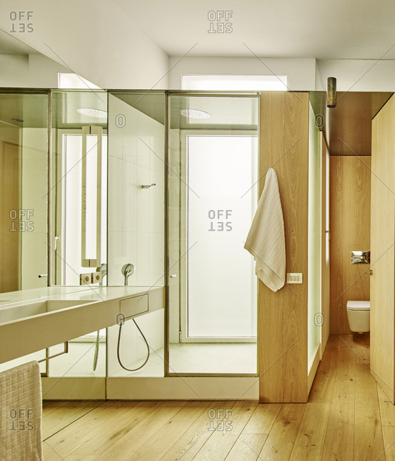 Interior view of Bruc Apartment, Barcelona, Spain Bathroom