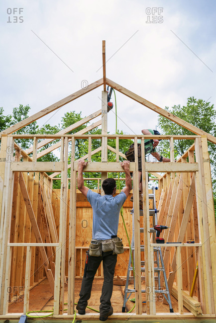Construction of a chicken coop building