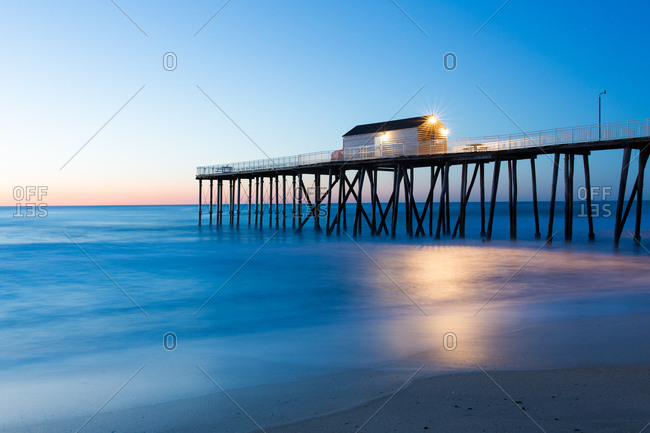 Building on pier on coast