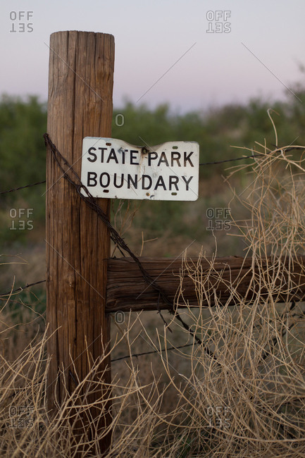 Boundary for a state park
