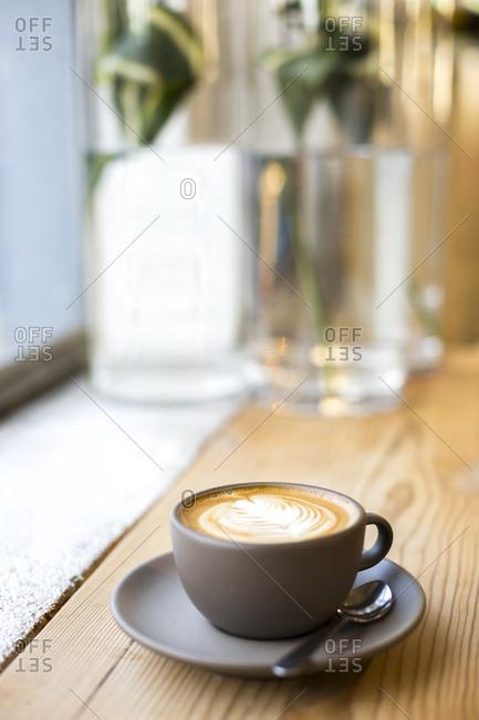A latte coffee drink in San Francisco, California