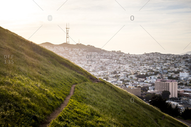 View of San Francisco from Bernal Hill