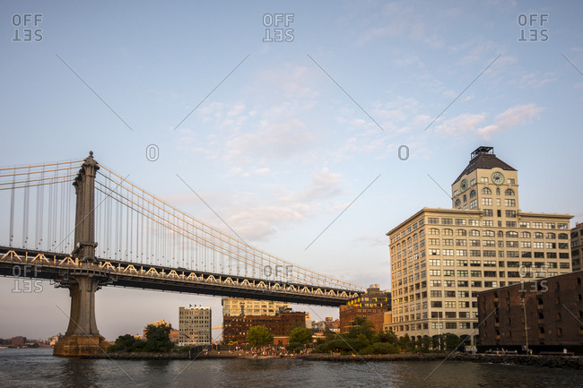 A view of the Manhattan Bridge from DUMBO in Brooklyn, New York
