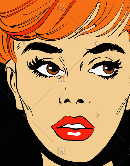 Close up of woman's anxious face