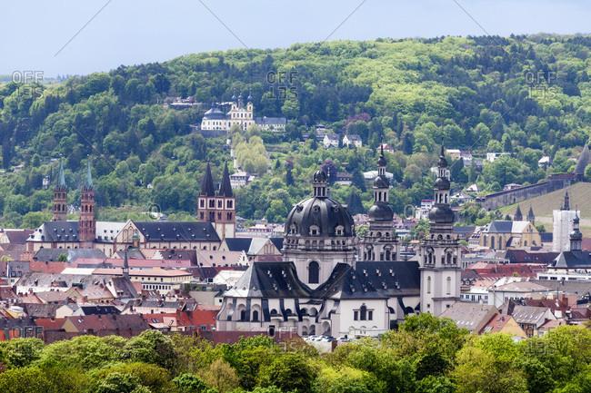 Germany- Bavaria- Wuerzburg- cityscape