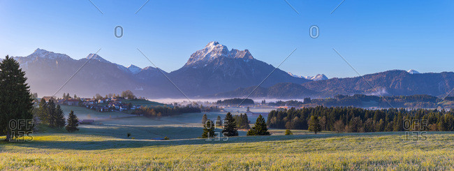 Germany- Bavaria- Ammergau Alps panorama in the morning