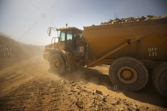 Dump truck at quarry