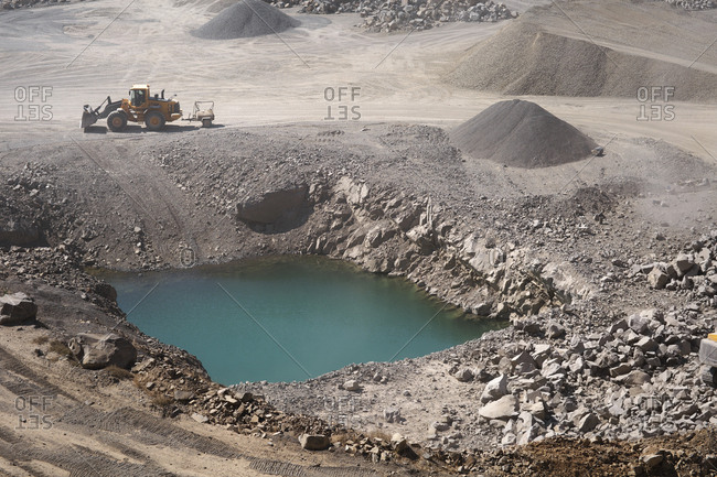 Water hole at a quarry