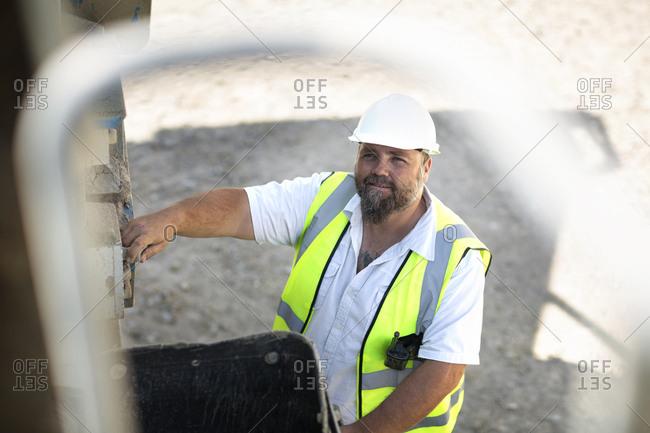 Portrait of a quarry worker