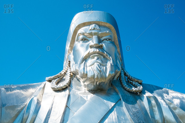Ulan Baatar, Mongolia - August 21, 2015: Genghis Khan statue, Mongolia