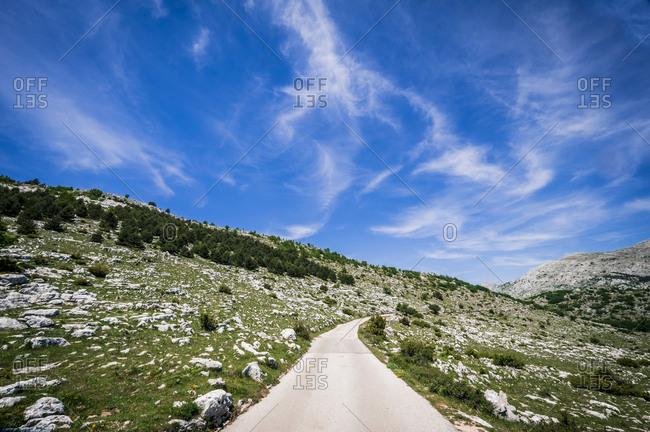 Landscape in Biokovo National Park in Croatia Europe