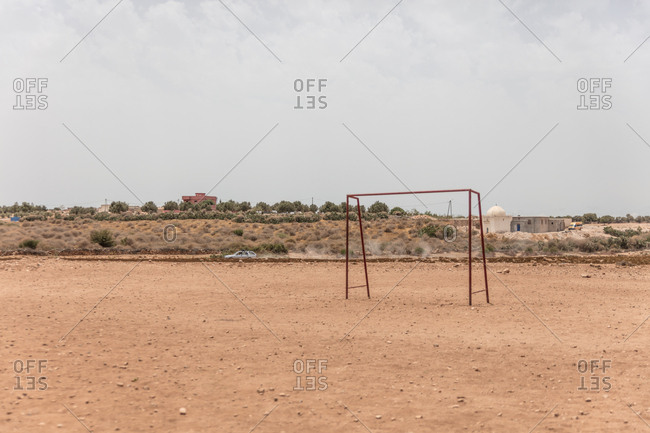 Empty field in Morocco