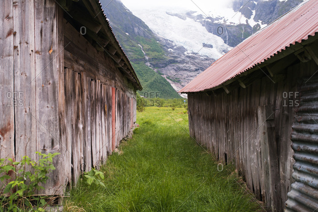Abandoned buildings in the Norwegian countryside