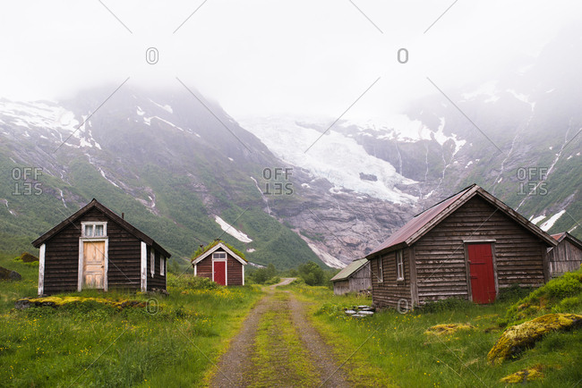 Traditional homes in the Norwegian countryside