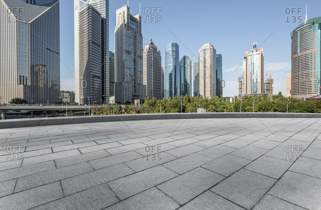 Shanghai, China - October 18, 2014: Modern architecture in the Financial District