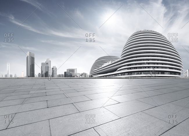 Beijing, China - May 14, 2012: City developments with Galaxy SOHO