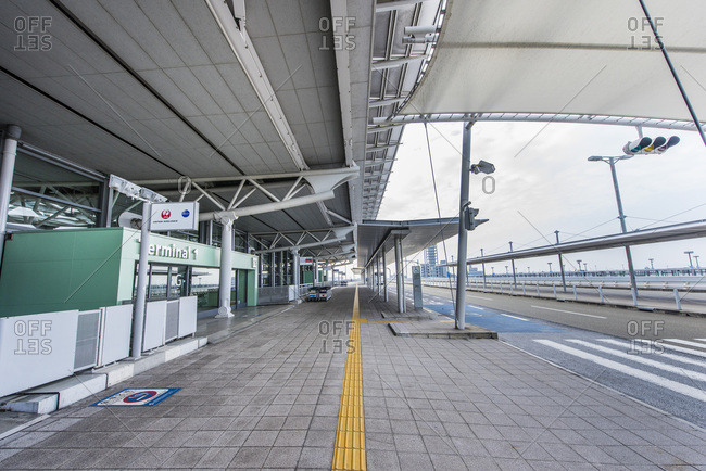 Osaka, Japan - December 24, 2014: Terminals at Kansai International Airport