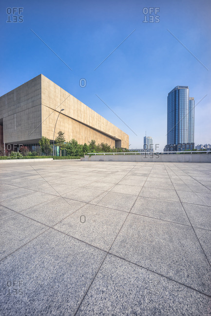 Tianjin, China - October 14, 2008: Somerset International Building and other buildings