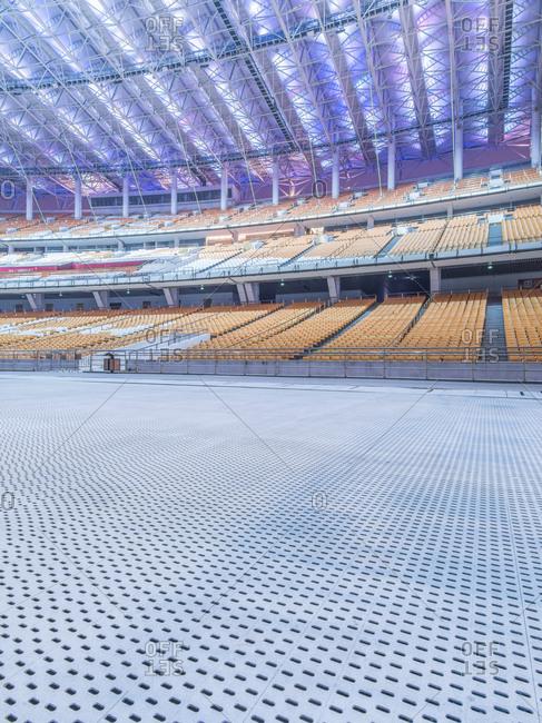Guangzhou, China - November 27, 2014: Haixinsha Asian Games Park at night