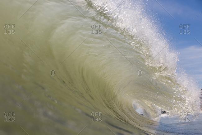 A curling wave in Atlantic