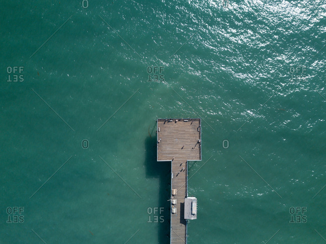 End of pier from above