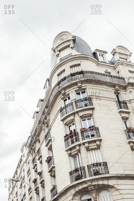 View of apartment building in Paris, France