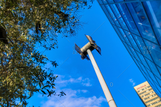 Small wind turbine in city