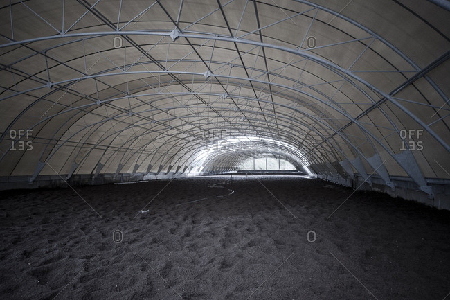Yorkshire, England, UK - October 29, 2012: A large covered structure