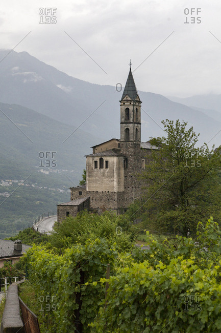 Historic church in the Italian Alps