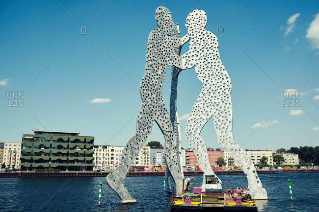 Berlin, Germany - June 8, 2016: Molecule Man structure in Berlin
