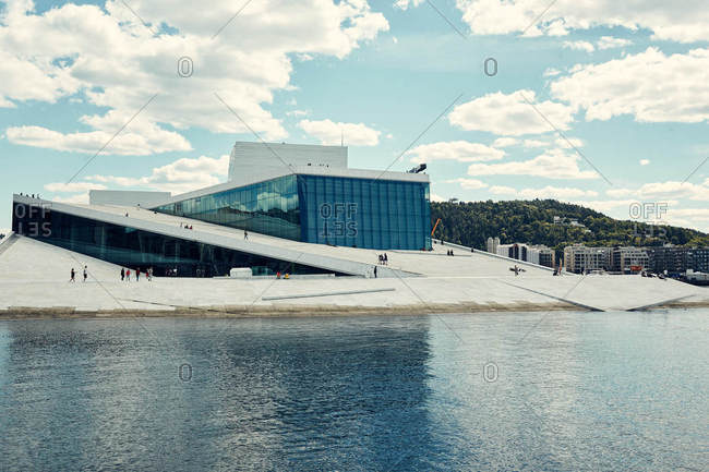 Oslo, Norway - June 14, 2016: Exterior of the Oslo Opera House in Norway