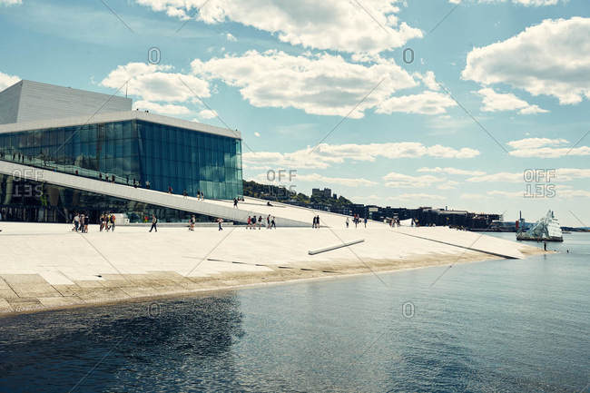 Oslo, Norway - June 14, 2016: The Oslo Opera House in Norway