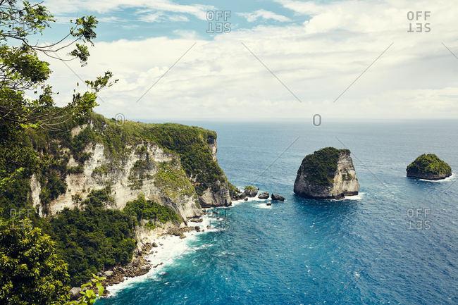 Majestic seaside cliffs in Bali