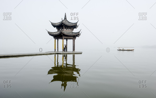 The West Lake, the big tourist attraction