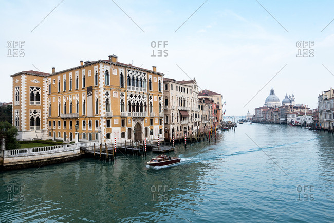 View of the Grand Canal from the Accademia Bridge in Venice