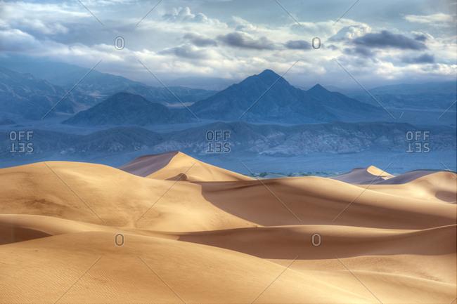 Sandy peaks in Death Valley, California