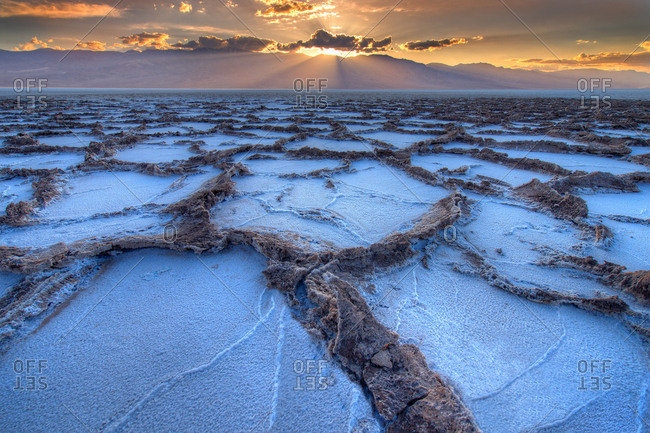Badwater salt flats, Death Valley