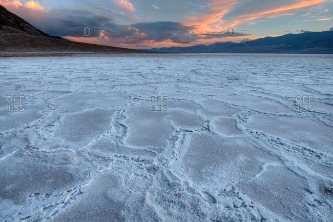 Salt flats in Death Valley, California