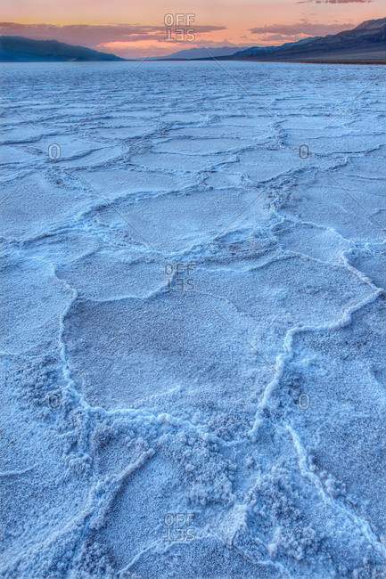 Salt flats of Death Valley, California