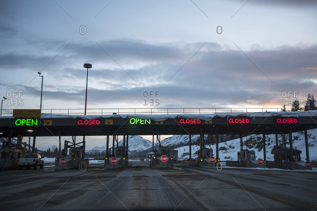 Toll collection area on highway