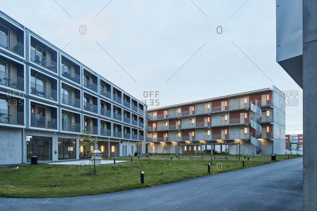 Residential buildings stock photos offset for Contemporary residential buildings