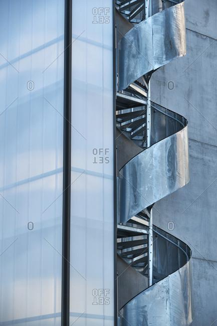 Modern winding stairwell