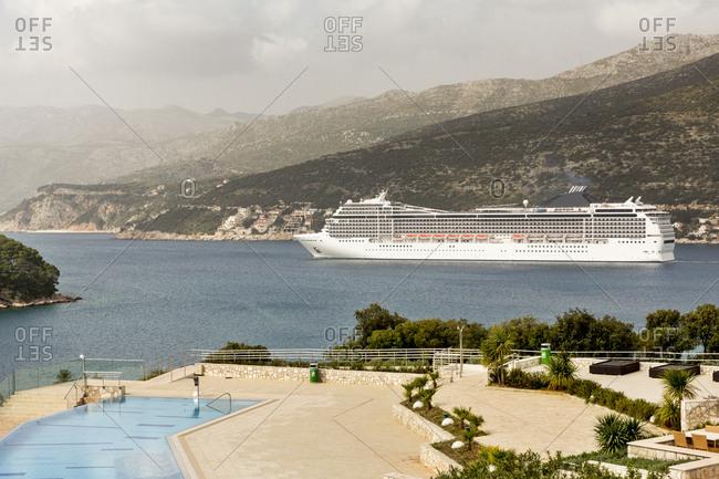 Cruise liner on sea