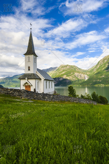 Church at lake - Offset Collection