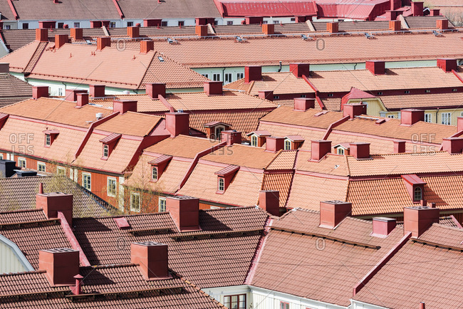 View of red roofs