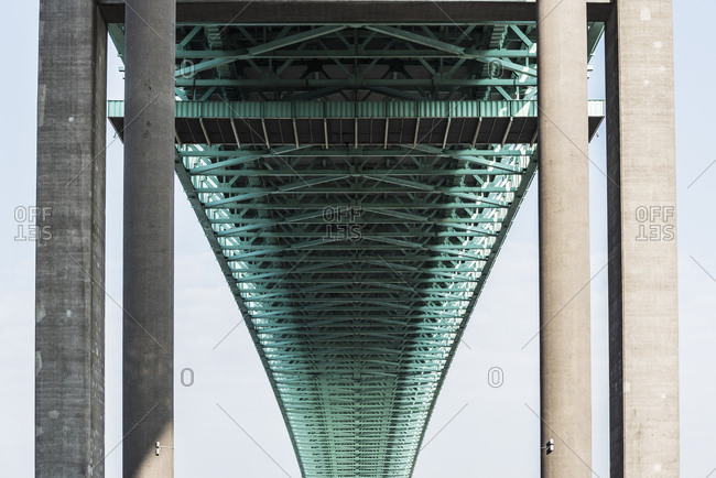 Bridge, low angle view