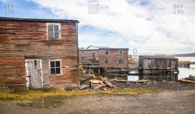 A fishing village on the shoreline of Fogo Island