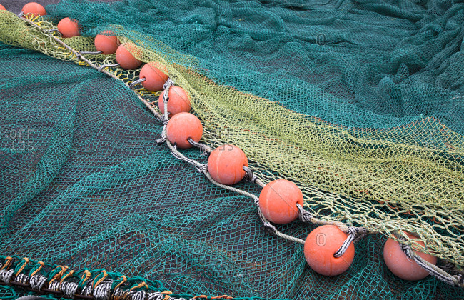 Fishing nets with floats